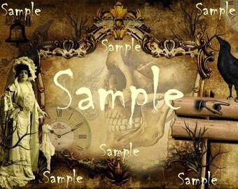 INSTANT DOWNLOAD - Halloween  Background - U Print Digital  - Halloween Labels - Large Single Image - digital  - Images - Original - U Print
