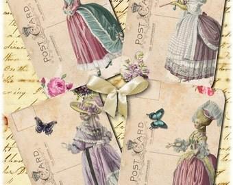 Instant Download - Marie Antoinette 22  - 3 X 5  -  Printable Digital Collage Sheet - Digital Download
