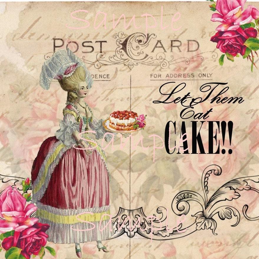 instant download marie antoinette let them eat cake. Black Bedroom Furniture Sets. Home Design Ideas