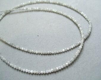 white diamond bead necklace by rockedjewelry