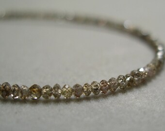 champagne diamond bead necklace