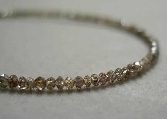 champagne diamond bead necklace