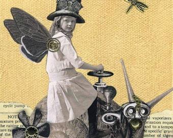 Sarah and Her Steamsnail - Print