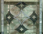 Stained Glass Window Panel - Bevels and Greys (W-20)