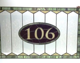 Stained Glass Transom Window Traditional (AM-11)
