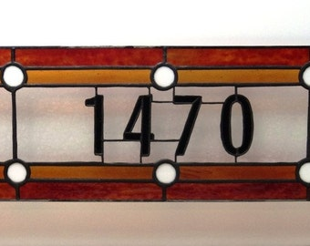 Traditional Stained Glass Transom (TW-12)