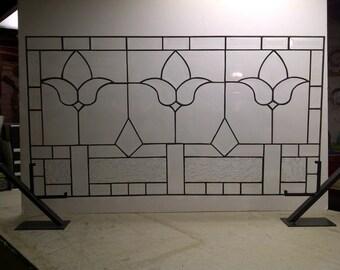 Elegant Beveled - Stained Glass Transom Window (TW-13)