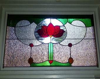 Stained Glass Window Panel - Transom Traditional yet Unique (TW-22)