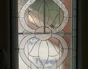 Large Traditional Stained Glass Window Panel (W-16)