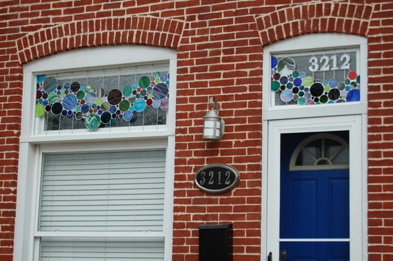 Stained Glass Bubble Window and Transom - 3212 (TW-4)