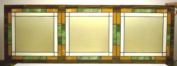 Mission Style Stained Glass Window Panel (W-3)