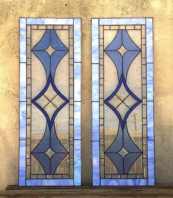 stained glass kitchen cabinet inserts stained glass cabinet inserts bevels and blues ci 5 8222