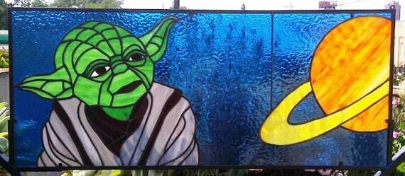Stained Glass Window Panel Yoda Star Wars P 18