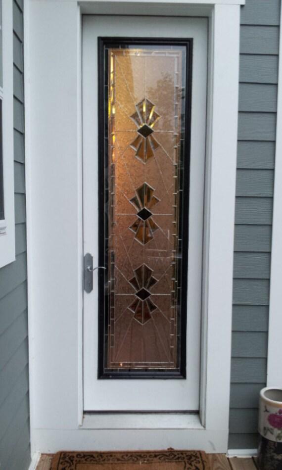 """Stained Glass Door Panel / """"Exquisite Bevels"""" (P-21)"""