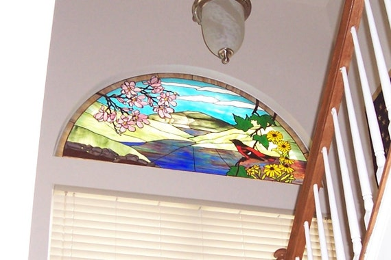 Scenic Stained Glass Window (W-5)