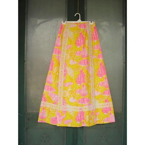 Vintage Lilly Pulitzer Seashore Skirt