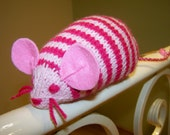 Striped knitted mouse