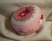 Pincushion in Pink with Shell Buttons