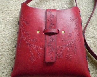 Large Cranberry Pouch Bag