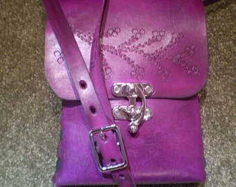 Violet Clasp Closure Bag