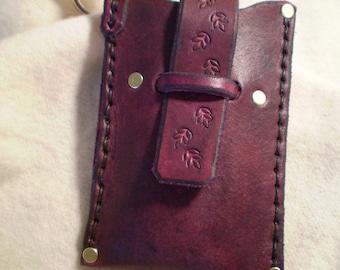 Small Leather Case - Grape