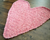 Heart Shaped Baby Blanket Photography Prop - Antique Rose Pink