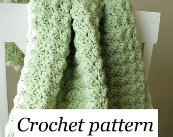 Crochet Pattern - Textured Baby Blanket