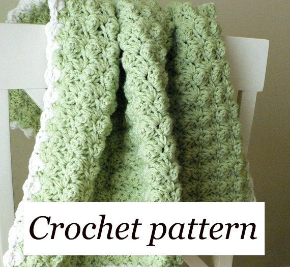 Items Similar To Crochet Pattern Textured Baby Blanket