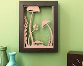 Mushroom Forest Floor - 5x7 Wood Print