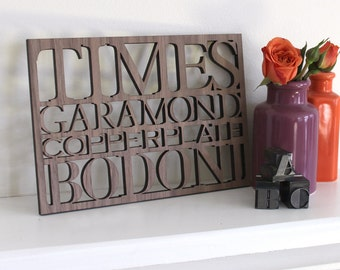 Serif Typography Wall Art 5x7