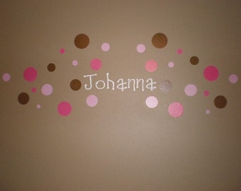 Personalized Name Circle Wall Vinyl Decals