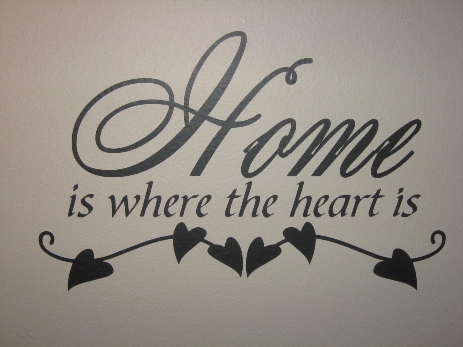 Home Is Where The Heart Is Quote Home Is Where The Heart Is Wall Vinyl Quote