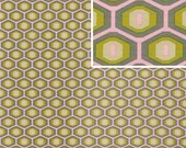Amy Butler Honeycomb Fabric in Grey, Midwest Modern Collection, 1 yard