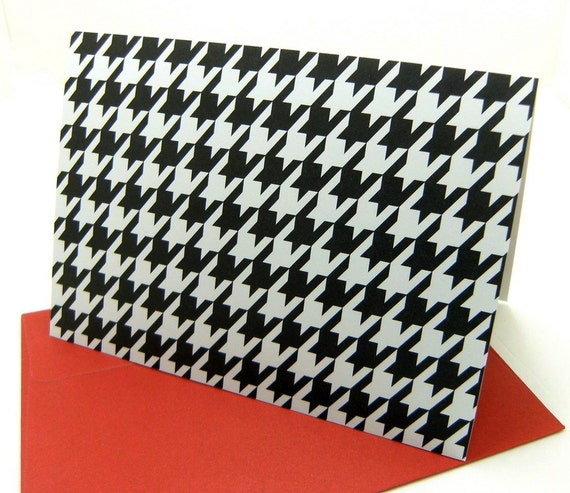 Houndstooth note cards - set of 5 - Roll Tide