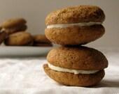 Pumpkin Ginger Sandwich Cookies