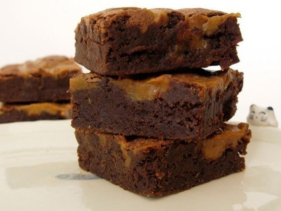 Espresso Brownie with Dulce de Leche