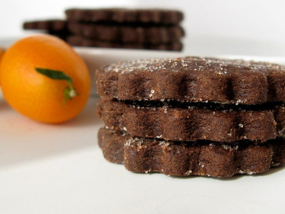 Chocolate Orange Cardamom shortbread cookies by whimsyandspice