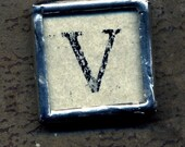 Soldered Pendant Letter V