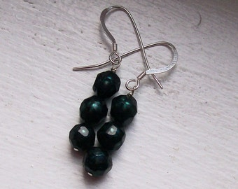 Peas in a Pod - Faceted Pearls and Sterling Silver Earrings