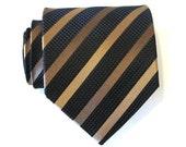 Mocha Stripe Silk Tie