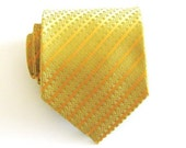 Gold and Yellow Silk Tie