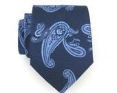 Persian Blue Paisley Silk Tie