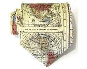 Mens Tie World Map Silk Necktie