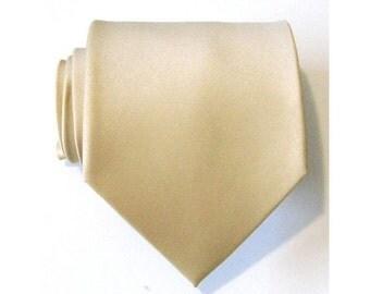Mens Tie. Vanilla Silk Necktie