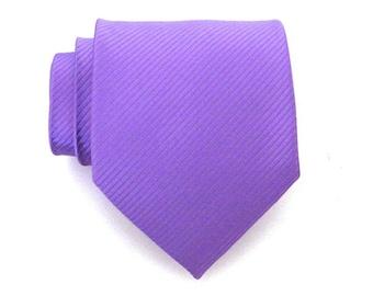 Mens Ties Necktie Purple Lavender Stripe Silk Men Tie