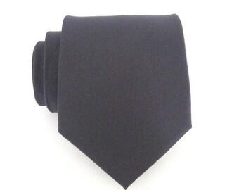 Mens Charcoal Gray Silk Necktie