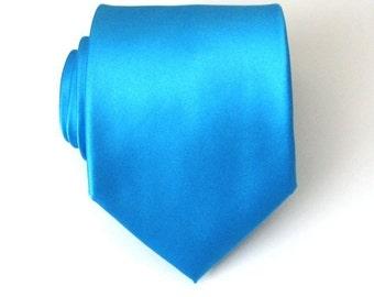 Mens Ties Necktie Cornflower Blue Silk Necktie