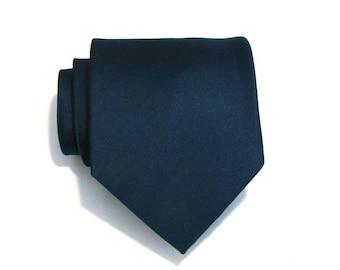 Necktie for Men Dark Teal Silk Necktie