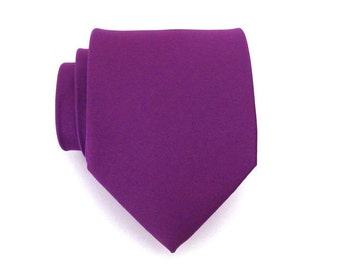 Mens Ties - Purple Silk Necktie