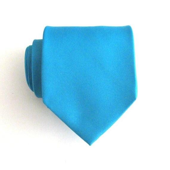 mens necktie aqua blue silk tie by tieobsessed on etsy